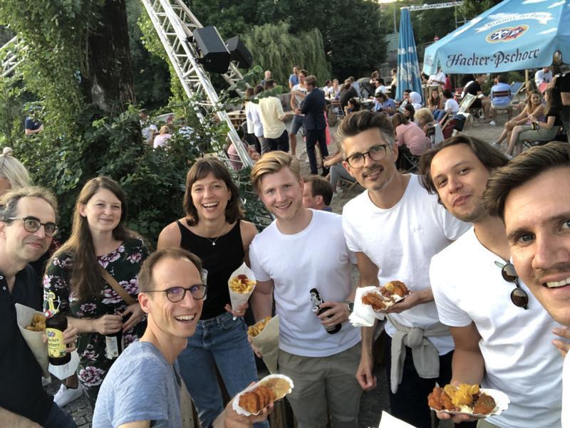 Unser Team am Kulturstrand in München (zumindest ein Teil davon