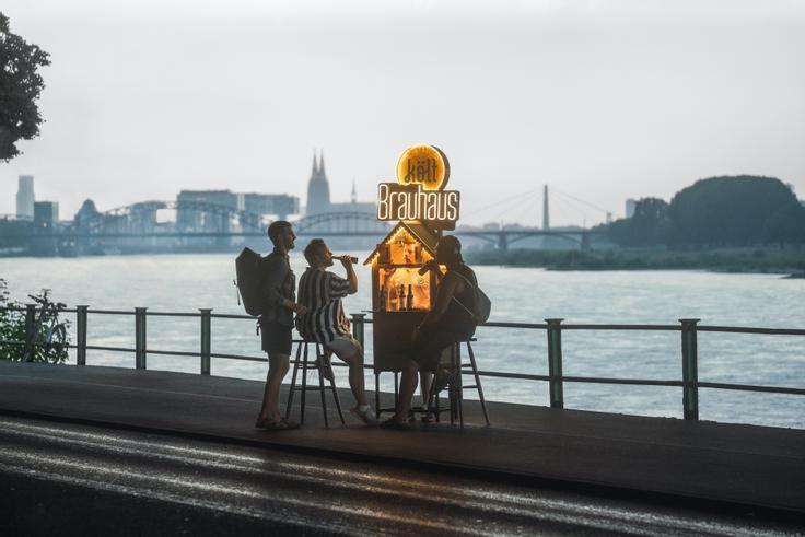 Feierabendbierchen am Rhein