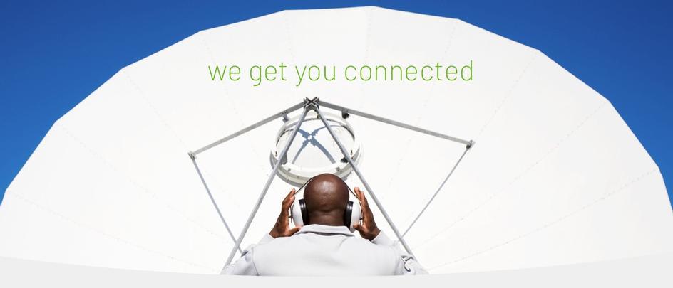 typische Anwendung einer Satellitenanlage (Telefonie und Internet)