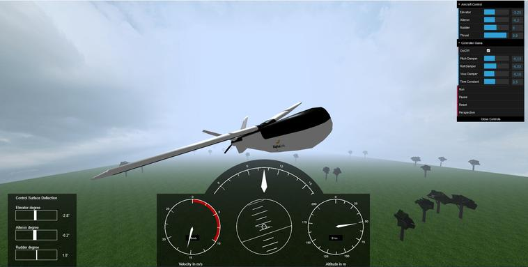 Virtuelle Flugtestumgebung
